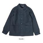 フランス軍 モールスキンジャケット レプリカ ブラック 2(Lサイズ)