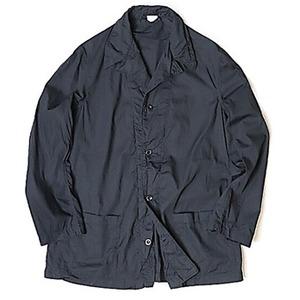 イタリア軍放出 ワークシャツ ブラック染め リメイク 未使用 デットストック 2(L相当) - 拡大画像