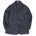イタリア軍放出 ワークシャツ ブラック染め リメイク 未使用 デットストック 2(L相当)