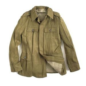 ルーマニア軍 放出ウールジャケット カーキ M - 拡大画像