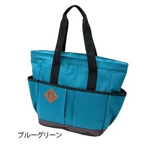 シンプルスタイルなトートバッグ A4サイズ対応 ブルーグリーン - 拡大画像