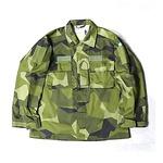 スウェーデンACTIVE LIFE社製 UF90 グリーンカモ シャツ デッドストック 未使用 170-85サイズ