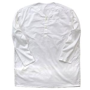 ロシア軍放出 スリーピングシャツ サマーヘンリーネック ホワイト デッドストック 未使用 《46(M〜L相当)》 - 拡大画像