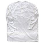 ロシア軍放出 スリーピングシャツ サマーヘンリーネック ホワイト デッドストック 未使用 《50(L〜XL相当)》