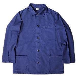 イタリア軍放出 モールスキンワークジャケット デッドストック 未使用 ブルー 52サイズ - 拡大画像