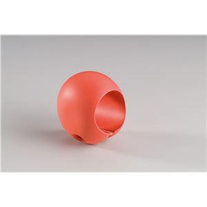 【10個セット】階段手すり滑り止め 『どこでもグリップ』たまご形 軟質樹脂 直径35mm コーラル シロクマ 日本製