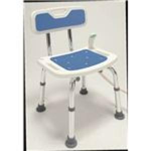 シャワーベンチ(シャワーチェアー ) アルミ製 高さ5段階調整可 持ち手/滑り止め付き (入浴用品/介護用品) - 拡大画像