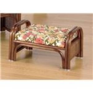 天然籐らくらく座椅子2脚組 【ロータイプ】 座面高23cm (リビング/玄関)
