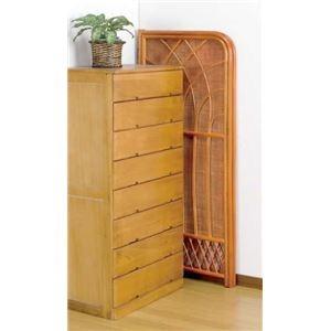 パーテーション/天然籐折りたたみ衝立 【ミドルタイプ】 木製 幅60cm