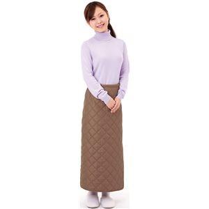 あったか巻きスカート 【M〜3L対応】 洗える ココア (防寒着) - 拡大画像