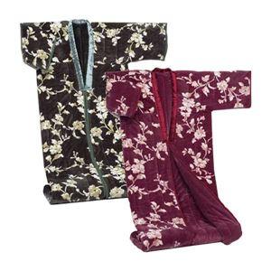 綿入りかいまき毛布【2色組み】 テイジンRウォーマルR使用マイヤー2枚合せ 幅140cm×長さ200cm  - 拡大画像