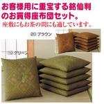 銘仙判座布団 【10枚組み】 55cm×59cm 日本製 グリーン(緑)