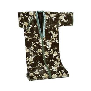 綿入りかいまき毛布 テイジンRウォーマルR使用マイヤー2枚合せ 幅140cm×長さ200cm グリーン(緑) - 拡大画像