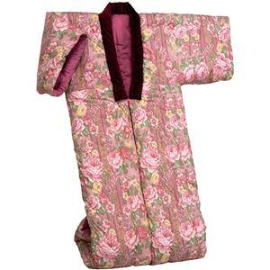 綿混わた入りかいまき布団 幅130cm×長さ185cm 日本製 ピンク (防ダニ効果) - 拡大画像