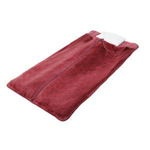 遠赤綿入りあったか寝袋タイプボリューム敷パッド2色組(ブラウン+ワイン) - 拡大画像
