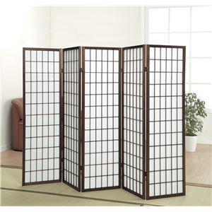 パーテーション/衝立/障子スクリーン5連 高さ148.5cm 木製フレーム