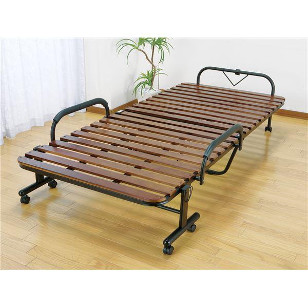 天然木すのこ折りたたみベッド