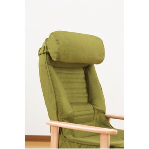 天然木低反発リクライニング高座椅子(クッション付) ブラウン【組立不要完成品】