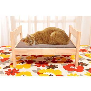 ペット用木製ベッド 1個 - 拡大画像