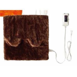 ホットマルチヒーター/暖房器具 【ブラウン】 無段階温度調節 ダニ退治機能・室温センサー付き 洗えるカバー 日本製 - 拡大画像
