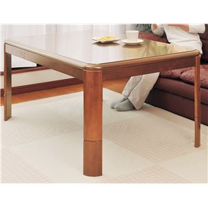 リビングこたつテーブル 本体 【正方形 75cm×75cm】 高さ3段階調節可 木製脚 フレーム 〔和室 洋室〕 - 拡大画像