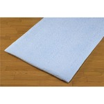 ジャカード織 タオルシーツ/ベッドシーツ 【ブルー】 幅140cm シングルサイズ 洗える 綿100% 日本製 今治産