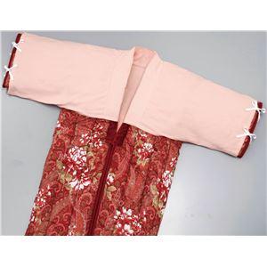 かいまき用 衿カバー 【ピンク】 130cm×45cm 側生地:綿100% 綿起毛仕様 洗える 綿フラノ 〔布団 ベッド〕 - 拡大画像