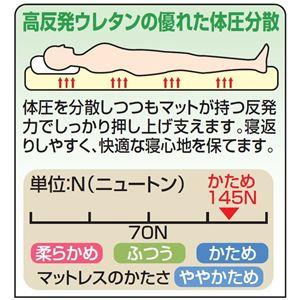 マットレス 【ブラウン シングルサイズ】 幅97cm 高反発 洗えるカバー 本体:日本製 『ジャパンスリーパー』