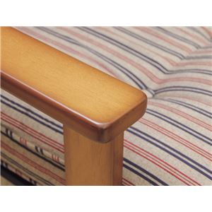高座椅子/パーソナルチェア 【1人掛け】 リクライニング式 クッション付 張地:綿100% 木製 日本製 『中居木工』 【完成品】