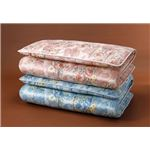 【ブルー単品】ボリューム羊毛4層式敷布団 ブルーセミダブル 防ダニ・防臭・抗菌加工