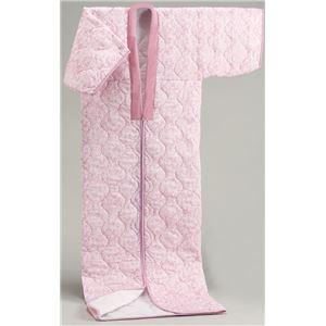 【日本製】国産かいまきふとんピンク系 シングル 綿100%ガーゼ - 拡大画像
