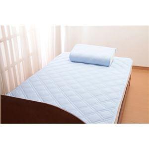 【クール スコール】テイジン「マイティトップII」使用 ひんやりタッチ軽寝具シリーズ 敷きパッド2枚 シングル - 拡大画像