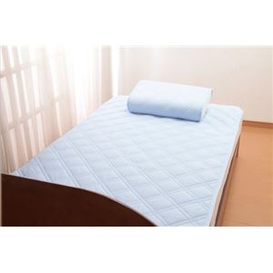 【クール スコール】テイジン「マイティトップII」使用 ひんやりタッチ軽寝具シリーズ 敷きパッド1枚 ダブル - 拡大画像