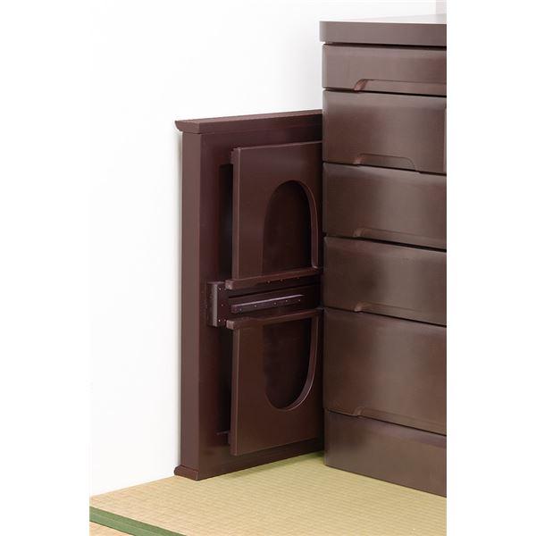 両サイド伸張式の天板が便利な供物台「伸張式供物台」は収納時コンパクトです
