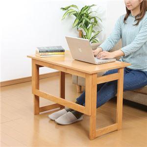 木製 折りたたみテーブル/補助机 【高さ55cm ナチュラル】 幅80cm 木目調 【完成品】 - 拡大画像