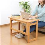 木製 折りたたみテーブル/補助机 【高さ55cm ナチュラル】 幅80cm 木目調 【完成品】