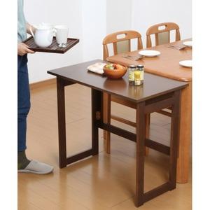 木製 折りたたみテーブル/補助机 【高さ69cm ナチュラル】 幅80cm 木目調 【完成品】 - 拡大画像