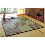紋織い草中敷 桂ブラウン 200×200cm
