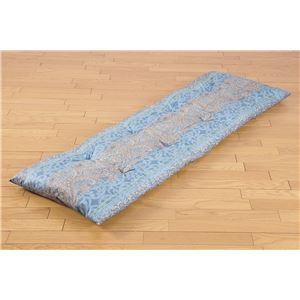 ごろ寝マット/リビングベッド 【セミシングル ブルー】 幅50cm 日本製 折りたたみ 綿100% 抗菌 防臭 防ダニ 『NEWごろ寝布団』