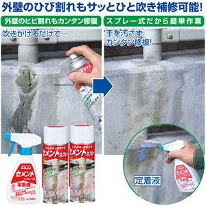 外装用 セメントスプレーセット 【約230ml】 定着液250ml付き 防水&風化防止仕様 〔エクステリア 外壁〕
