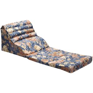 くつろぎテレビ枕/寝具 【幅45cm 】 日本製 折りたたみ 通気性 綿使用 高さ調整 背中・腰サポート機能 〔リビング〕 - 拡大画像