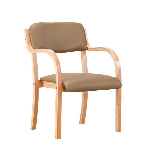 立ち上がる際の負担を緩和させる設計の「立ち座りサポートチェア ブラウン 1脚」
