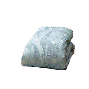 羽毛掛け布団/羽毛布団 【シングルサイズ ブルー】 国産ホワイトダウン85%使用 専用収納ケース付き 日本製 - 拡大画像