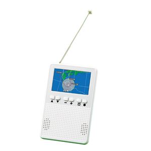 高感度 ポケットラジオ 【ホワイト】 テレビも見られる AM/FMラジオワイドFM対応 〔災害時 防災用品 避難用品〕 - 拡大画像