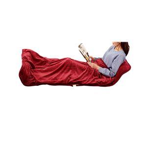 寝袋風マット/寝具 【ワイン】 洗える 日本製 ダニ対策 室温センサー 切忘れ防止タイマー付 『あったか寝ころんぼマット』 - 拡大画像
