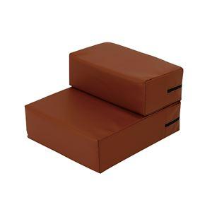 抗菌・難燃PVCレザーのドッグステップブラウン レギュラー 高弾力ウレタン使用 - 拡大画像