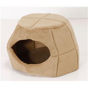 2WAY ペットベッド 【ブラウン】 幅46cm クッションシート付き ウレタンフォーム 〔犬 猫 リビング〕 - 拡大画像