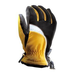 完全防水防寒手袋 2枚組 【イエロー L】 ワンタッチ絞り付き 撥水 『ホットエースプロ』 〔通勤 通学 アウトドア〕 - 拡大画像