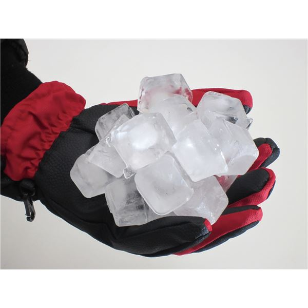 完全防水防寒手袋 2枚組 【レッド LL】 ワンタッチ絞り付き 撥水 『ホットエースプロ』 〔通勤 通学 アウトドア〕