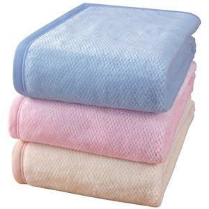 泉大津産ボリュームロング綿毛布ベージュ 140×210cm